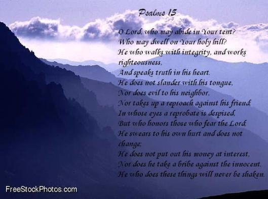 Mountains - Psalms 15