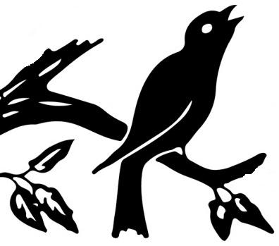 silhouette bird - black